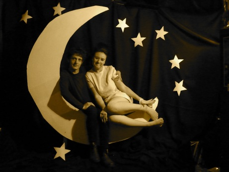 V & S in moon sepia